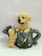 Gardenwize Garden Yard Patio Solar LED Eyes Puppies Dogs & Watering Can Ornament