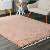nuLOOM Casual Plush Shag Neva Area Rug in Pink
