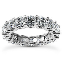 4 Carat Round Cut D VS2 Diamond Solitaire Engagement Ring 14k White Gold
