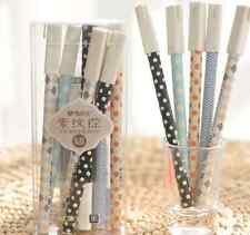 M&G Stationery NEW 6PCS-0.35mm,Black Ink RollerBall Pens/Gel Ink Pens WJNEW223