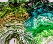 Narrow Ribbon - Choose your colours from Greens = Well-being, Health & Fertility