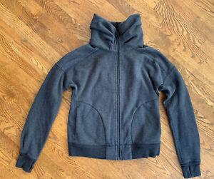 Womens Lululemon Full Zip Funnel Mock Neck Sweater Jacket 6