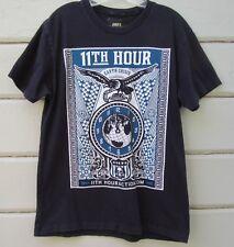 OBEY Premium 11th Hour SS Cotton Black Graphic Tee Men's M