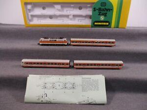 Minitrix N 1027 Zugpackung 4-teilig S-Bahn der DB mit BR 111 Analog in OVP