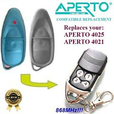 Aperto 4025 / Aperto 4021 Compatibile Telecomando 868,8MHz Rolling Code