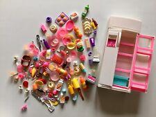 💕 Barbie original vintage big kitchen lot, set  1990's fridge,blender,plates...