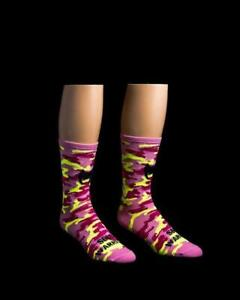 """""""Camo Pink"""" 6"""" Men's & Women's Cycling Sock with Compression"""