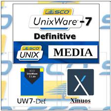 SCO Unix UnixWare 7 Definitive O.S. - Installation Media on CDROM