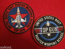 """United States Navy """"Top Gun"""" Fighter Weapons School (2)pc Patch Set Two Top Gun"""