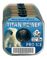 (0,08€/m) 25M ROBINSON TITAN POWER PRO ICE VORFACHMATERIAL FLUOROCARBON COATED