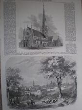 Vista di BOLOGNA ITALIA 1860 old print e l'articolo