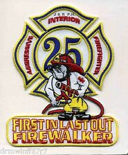 """Houston  Station-25  """"Firewalkers-1st In"""", TX  (3.5"""" x 4.5"""" size) fire patch"""