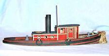 48' 1887 TUG BOAT HAWK S Sn3 Waterline Hull Boat Unpainted Wood Laser Kit  DF701