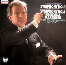 Capriccio C 27 106 Schumann Symphony 3 & 4 Sir Neville Marriner [1986] NM/EX