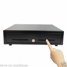 """USED 16"""" Manual POS Cash Drawer w/ Key Push Open with Insert Tray Restaurant"""