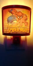 Marvel Ultimate Spider-Man Night Light On Off Switch Blue and clear Bulbs