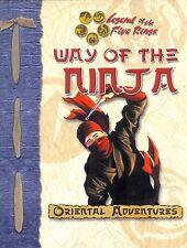 D20 L5R ORIENTAL ADVENTURES WAY OF THE NINJA