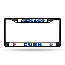 Chicago Cubs Authentic Metal BLACK License Plate Frame Auto Truck Car NWT