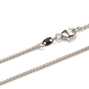 Goldkette 18K Weissgold 750 Zopf Collier Halskette diverse Breiten und Längen