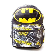 BATMAN BACKPACK WITH BIG BAT LOGO & COMIC ARTWORK OFFICIAL DC COMICS MERCHANDISE