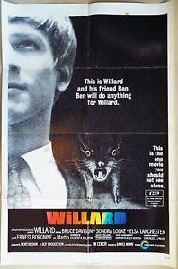 Willard 1971  Bruce Davison Original US One Sheet Poster