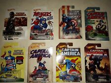 HOT WHEELS CAPTAIN AMERICA FULL LOT 8 PCS - 1:64