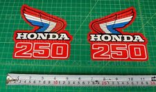 86' 1986 CR250R dirtbike 2pc Vintage gas tank shroud decals stickers graphics