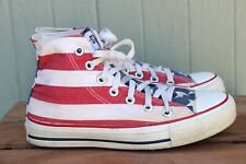 VTG Converse Made in USA American Flag Red White Blue High Top Athletic Shoe SZ4