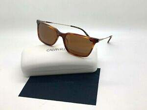 NEW Calvin Klein Sunglasses CK19703S 248 HONEY HAVANA 56-17-140MM CASE