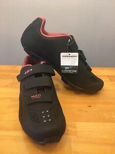 New! Louis Garneau Women's Multi Air Flex Bike Shoe Black / Pink Size 42 USA 11