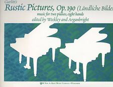 Gurlitt Rustic Pictures Op. 190 For 2 Pianos 8 Hands Late Intermediate Quartet