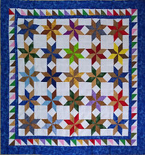 Traditional Scrap color Star QUILT TOP - Playful colors & design