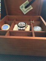 INVICTA WOOD MEN'S VALET ORGANIZER . COLLECTORS CASE!  BEAUTIFULLY DONE!