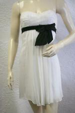 $248 BCBG OFF WHITE  (cko6d897) STRAPLESS SILK CHIFFON DRESS NWT 08