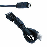 HQRP USB Cable for Sony Cyber-shot DSC-TF1 DSC-W710 DSC-W730 DSC-W800 DSC-W810