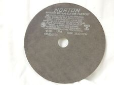 NIB (4) NORTON 10 X 1/16 X 1-1/4 ALUMINUM OXIDE CUT OFF WHEEL #66253122821