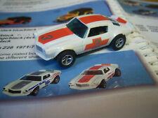 AFX/Aurora Collectors L@@K Rare CAMARO T/A  Z-28 white/orange #3 Model Motoring
