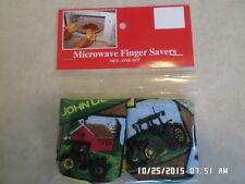 John Deere-Cotton-Microwave Oven Mitts-Hot Pads-Pot Holder-Patty's Mitts Free