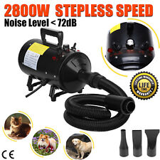 Pet Dog Hair Dryer Grooming Fur Stepless Speed Heater Blaster Hairdryer 2800W UK