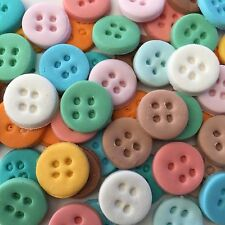 Edible Sugar Buttons  Cake/Cup Cake Toppers X 25 Mix Pastel Colors