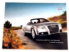 2007 Audi A4 S4 Cabriolet 36-page Original Deluxe Car Sales Brochure Book
