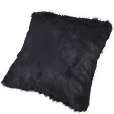 Cojines decorativos de color principal negro de piel para el hogar