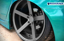 20X9 20x11 +28 Staggered Rohana RC22 5X114.3 Matte Graphite Wheel Fit Acura Tsx