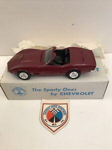 1970 Corvette Promo Convertible Red Ext Black Int Original Box With Sticker