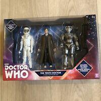 "DOCTOR WHO set THE TENTH DOCTOR 6"" action figure Vashta Nerada Cyberman toys NEW"