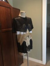 GIVENCHY silk Lace Geometric Top Sz Small