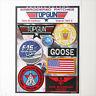 "TOP GUN ""GOOSE"" FANCY DRESS Patches - Iron-On Patch Mega Set #016 - FREE POST"
