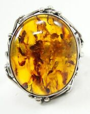 Cabochon Amber Fine Rings