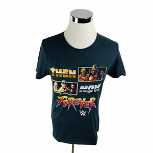 WWE Slam Crate Then Now Forever Men's Gray T-Shirt Size Medium M