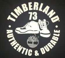 Vtg TIMBERLAND T SHIRT Rare USA MADE TEE Logo BOOTS Shoes 90's Clothing